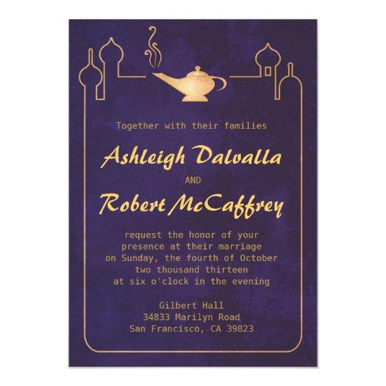 Arabian Magic Lamp Wedding Invitations Zazzle Com