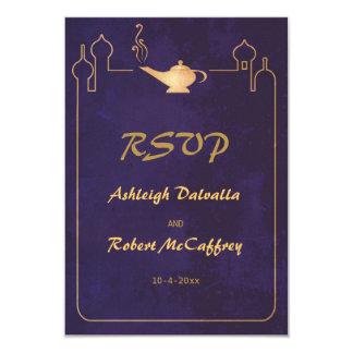 Arabian Magic Lamp Wedding RSVP Cards