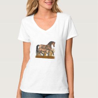 Arabian mare and foal T-Shirt