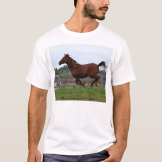 Arabian mare, running on air - shirt