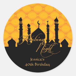 Arabian Night, Birthday Party Stickers