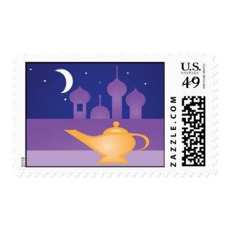 Arabian Night Magic Lamp Postage Stamp