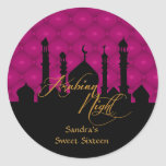 Arabian Night, Sweet Sixteen Party Stickers