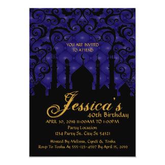 Arabian Nights, 40th Birthday Invitations