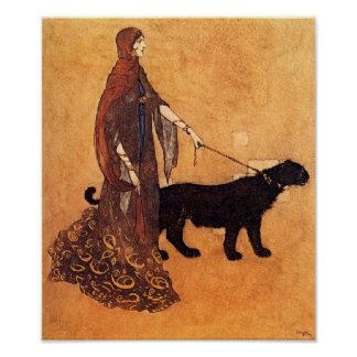 Arabian Nights by Edmund Dulac Poster