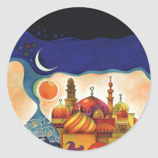 arabian nights classic round sticker