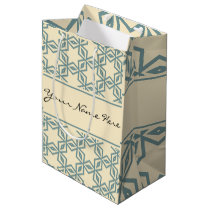 Arabian Nights | Classical Beige & Gray Pattern Medium Gift Bag
