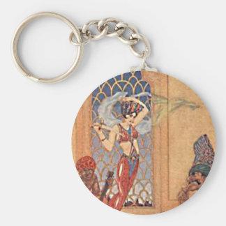 Arabian Nights Dancing Girl Illustration Key Chains