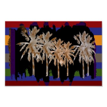 Beach Themed Arabian Nights -  Dancing Trees Poster