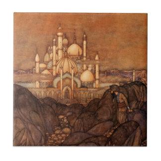 Arabian Nights Edmund Dulac Vintage Story 1900s Tile