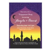Arabian Nights Engagement Wedding Invites