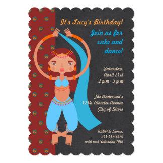 Arabian nights girl Birthday Party invitation