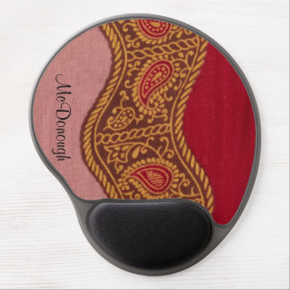 Arabian Nights in Red and Gold Gel Mouse Pad
