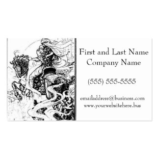 Arabian Nights Knight and Princess on Horse Business Cards