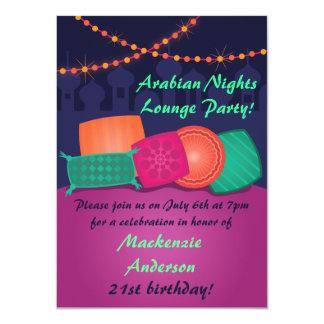 "Arabian Nights Lounge Party Invitation 4.5"" X 6.25"" Invitation Card"