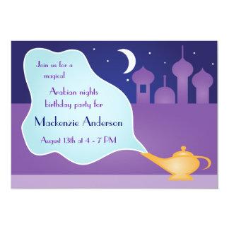 Arabian Nights Magic Lamp Birthday Party 5x7 Paper Invitation Card