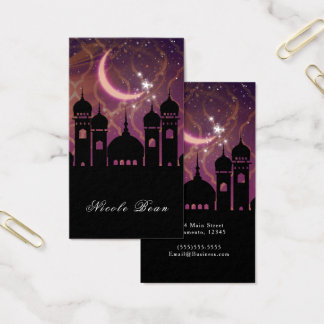 Arabian Nights Moroccan Middle Eastern Purple Pink Business Card