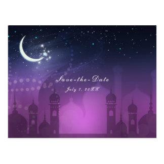 Arabian Nights Moroccan Middle Eastern Save Date Postcard