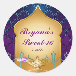 Arabian Nights Moroccan Party Favor Stickers