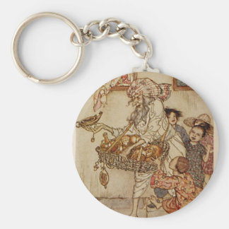 Arabian Nights New Lamps for Old Illustration Keychain