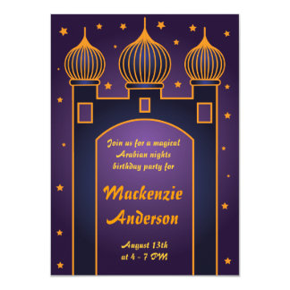 Arabian Nights Party Invitation 3