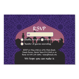 Arabian Nights RSVP Wedding Respond Cards