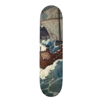 Arabian Nights Sailing Ship Skateboard Deck