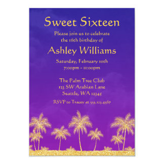 Arabian Nights Sweet 16 Birthday Party Invitation