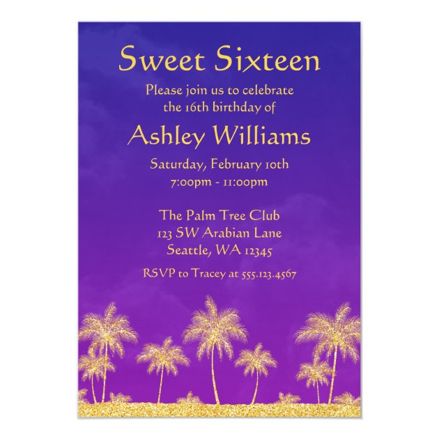 Personalized Arabian nights moroccan theme themed Invitations