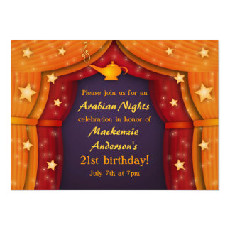 Arabian Nights Tent Party Invitations