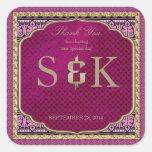 Arabian Nights Wedding Favor Square Stickers