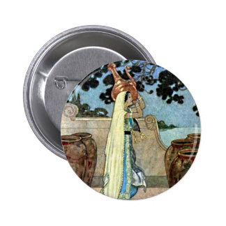 Arabian Nights Woman at the Well Illustration Pin
