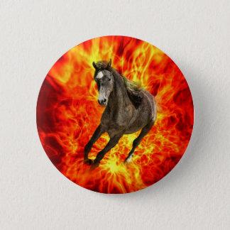 Arabian on fire pinback button