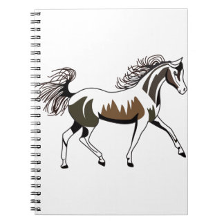 Arabian Outline Spiral Notebook