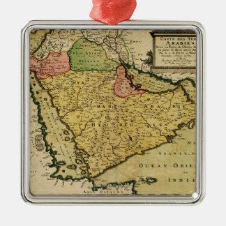 Arabian Peninsula of the Middle East Map Metal Ornament
