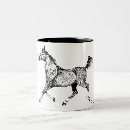 Arabian Pointillism Two-Tone Coffee Mug