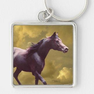 Arabian stallion Stormy sunset Keychain