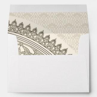 Arabian style lace envelope