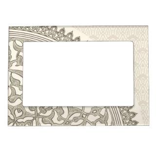 Arabian style lace magnetic photo frame