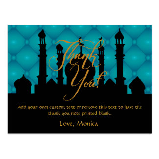 Arabian Themed Thank You Cards