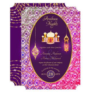 Arabian Wedding Couple Engagement Rehearsal Dinner Invitation