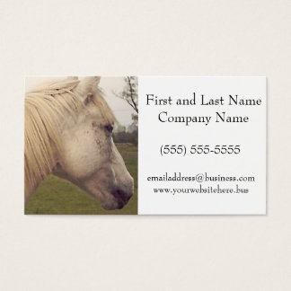 Arabian White Horse Head Painting Art Business Card