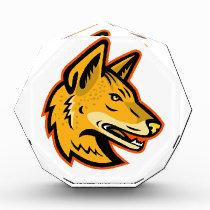 Arabian Wolf Head Mascot Acrylic Award