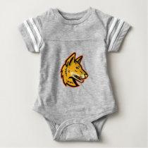 Arabian Wolf Head Mascot Baby Bodysuit