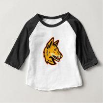 Arabian Wolf Head Mascot Baby T-Shirt