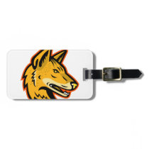 Arabian Wolf Head Mascot Bag Tag