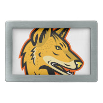 Arabian Wolf Head Mascot Belt Buckle
