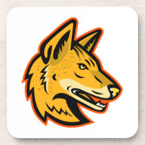 Arabian Wolf Head Mascot Beverage Coaster