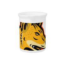 Arabian Wolf Head Mascot Beverage Pitcher