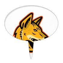 Arabian Wolf Head Mascot Cake Topper